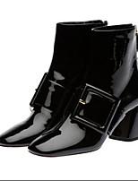 Mujer-Tacón Robusto-Confort-Botas-Informal-PU-Negro