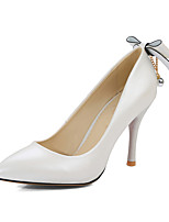 Women's Heels Spring Summer Fall Winter Club Shoes PU Office & Career Party & Evening Dress Stiletto Heel Bowknot