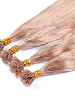 U Tip Hair Extensions Human Malaysian Straight Hair Human Hair Extensions 100g Pre-bonded Straight #27 Virgin Hair Nail Tips