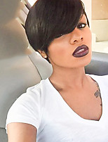 Ethereal   Natural Black Short Hair Human Hair Wig Suitable For All Kinds Of People