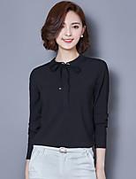 знак # 6127 2017 весны новых корейского кружева шифон рубашка женщины с длинными рукавами рубашка тонкой рубашки
