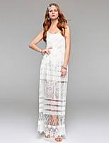 Bainha / coluna vestido de noiva simplesmente sublime see-through tornozelo-comprimento colher renda com laço drapeado