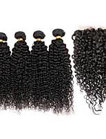 Человека ткет Волосы Бразильские волосы Kinky Curly 12 месяцев 5 предметов волосы ткет