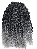 1 Pack 8inch Black Grey Mix Curly Afro Kinky Mali Bob Braids Hair Extensions Kanekalon Hair Braids 30g (5-6packs/head)
