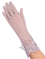 Cotton Lace Fingertips Wrist Length,Patchwork Vintage Party Work Casual All Seasons