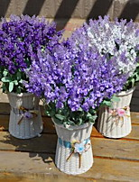 1 Branch Plastic Lavender Tabletop Flower Artificial Flowers