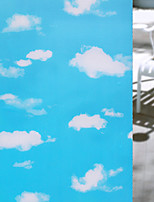Window Film Window Decals Style Fashion Blue Sky White Cloudse PVC Window Film - (100 x 45)cm