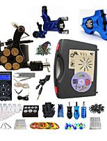 Complete Tattoo Kit 3 Machines G3Z14R1R2 Liner & Shader Hurricane Dual LED Digital Power Supply