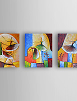 Hand-Painted  Abstract Dancers Set of 3 Canvas Oil Painting With Stretcher For Home Decoration Ready to Hang