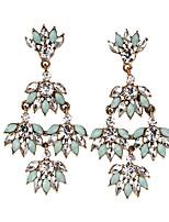 Boucles d'oreille goutte Bijoux Mode Bohême euroaméricains Gemme Bijoux Bleu clair Bijoux Pour Mariage Soirée Occasion spéciale 1 paire