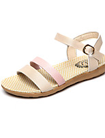 Sandals Summer Mary Jane Leatherette Outdoor Dress Casual Low Heel Buckle Walking
