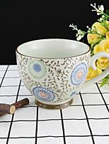 цветной Стаканы, 330 ml Многоразового использования 瓷器 Чайный Телесный Чайные чашки Кофейные чашки