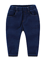 Unissex Jeans Casual Cor Única Inverno Outono