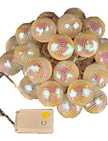 1PC 5W String Lights lm 5V 4 m 20 leds Warm White RGB  Festive Furnishing LED  String Light