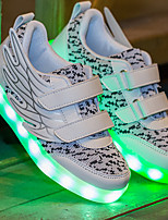 Unisex Sneakers Spring Summer Light Up Shoes Comfort Couple Shoes Luminous Shoe Light Soles Tulle Outdoor Athletic Casual Low HeelLED