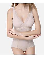 Serre Taille Vêtement de nuit Femme,Dentelle Couleur Pleine-Mince Nylon Aux femmes