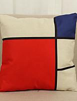 1 pcs Lin Housse de coussin Taie d'oreiller,Nouveauté Texturé Géométrique Moderne/Contemporain Décontracté Autres