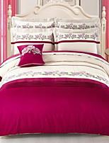 Set of 4 Pieces Cotton Bedding Quilt 200*230 Bed Linen 245*270 Pillowcase 48*74