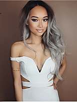 Popular Grey Color Wave Synthetic Wigs For Afro Women