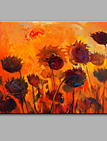 Hand-Painted Abstract The Sunshine Of Sunflower  Oil painting Ready To Hang Modern One Panels Canvas Oil Painting For Home Decoration