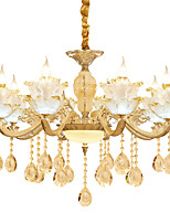European Style Atmosphere Zinc Alloy Crystal Living Room Bedroom Home Chandelier K
