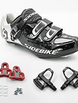 BODUN/SIDEBIKE® Road Bike Shoes Cycling Shoes With Pedals & Cleats Unisex Anti-Shake/Damping Cushioning Breathable Ultra Light (UL) Sweat-Wicking