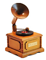 Music Box Music Classic & Timeless Wood Khaki