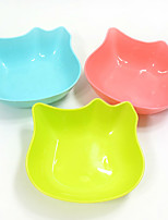 Lovely Fashion Portable Small pet utensils Plastic water bowl Cute cat face Single Bowl Pet supplies Free shipping