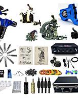 Komplettes Tattoo Kit1 x Stahl-Tattoomaschine für Umrißlinien und Schattierung 2 x Drehtattoomaschine für Umrißlinien und Schattierung 1