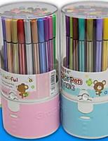 puede ser lavado no tóxicos plástico pintura del cepillo pintada acuarela pluma 36 colores