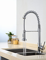 Modern Pull Out Kitchen Faucet Tall/High Arc Pull-out/Pull-down Standard Spout Centerset Thermostatic Rain Shower Pullout Kitchen Sink Mixer Tap