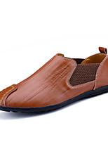 Men's Loafers & Slip-Ons Spring Summer Fall Comfort Cowhide Outdoor Casual Flat Heel Walking Shoes