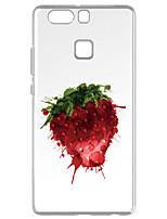 Pour Transparente Motif Coque Coque Arrière Coque Fruit Flexible PUT pour Huawei Huawei P9 Huawei P9 Lite Huawei P8 Huawei P8 Lite