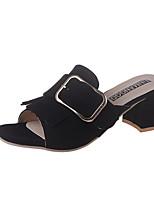 Women's Slippers & Flip-Flops Spring Summer Comfort PU Casual Chunky Heel