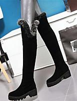 Черный Серый Красный-Для женщин-Повседневный-Полиуретан-На плоской подошве-Удобная обувь-Ботинки