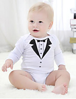 Baby Casual/Daily Formal Holiday Print One-Pieces Cotton All Seasons Spring Fall Long Sleeve Baby Bodysuit