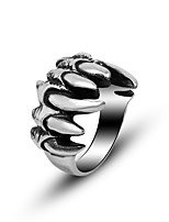 Ring Punk Titanium Steel Geometric Silver Jewelry For Daily 1pc