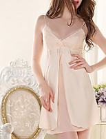 Women's Garters & Suspenders Ultra Sexy Nightwear,LaceThin Polyester Ice Silk Women's