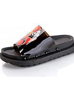 Women's Slippers & Flip-Flops Summer Comfort PU Casual Flat Heel Applique Walking