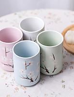 japonês de Sakura alta temperatura copos de bebidas porcelana impressos à mão ajustada com quatro cores diferentes