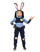 Inspired by Judy Hopps Cosplay Costumes with Badge Bunny Tail and Ears