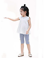 Casual/Daily Solid Blouse,Cotton Linen Summer