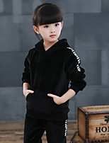Unisex Going out Casual/Daily Solid Sets,Cotton Winter Long Sleeve Clothing Set