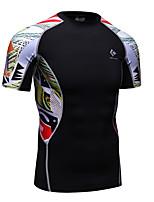 REALTOO® Homme Manches courtes Course / Running Hauts/Tops Séchage rapide Eté Vêtements de sport Course/Running Térylène Mince Classique