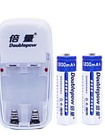 Aa níquel cádmio bateria recarregável 1.2v 1200mah 2 pack