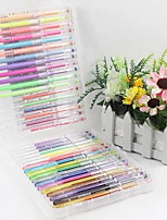 1 Box 36 Pieces Pastel Flash Pen Color Pen Fluorescent Pen 0.8mm