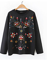 Women's Casual/Daily Sweatshirt 3D Print Round Neck Inelastic Polyester Long Sleeve Spring