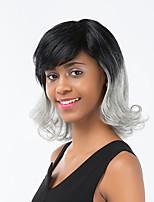 Enchanting Gradient Color Medium Long Curly Hairl Human Hair