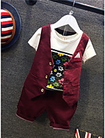 Boys' Casual/Daily Formal Solid Floral Sets,Cotton Summer Clothing Set