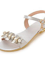 Sandals Spring Summer Fall Slingback PU Office & Career Dress Casual Flat Heel Pearl Black Silver Gray Gold